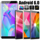"S9 Big Screen 5.7"" 3g Unlocked Smartphone Dual Sim Android6.0 Mobile Phone Gps"