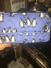 Vera Bradley All In One Crossbody For I Phone 6 + Playful Penguins Blue NWT