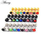 2pc Surgical Steel Gem Barbell Ear Cartilage Tragus Helix Stud Earrings Piercing image