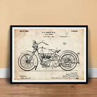 HARLEY DAVIDSON MOTORCYCLE 1928 PATENT POSTER HD V TWIN HD CYCLE (unframed) $19.93 CAD on eBay