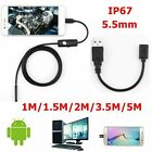 Camara Endoscopica HD 6 LED Endoscope Camera Waterproof Inspection For Android P