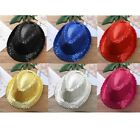 Unisex Kids Dance Party Fedora Bling Sequin Jazz Hat Trilby Stage Performance