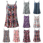 Plus Size Women Summer Printed Sleeveless Vest Blouse Tank Top Camis Clothes HOT