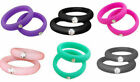 Silicone Wedding Engagement Ring Women Men Rubber Band Gym Sport Flexible