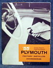 1955 Pymouth Factory Installed Accessories Auto Dealership Brochure