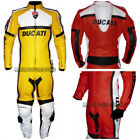 Duke Super Sport Classic Red or Yellow Motorcycle 1 Pc Biker Suit Race Leathers