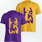 LeBron James Los Angeles Lakers T-Shirt - LaBron LA Tee - Yellow or Purple - S-5