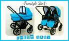 TWINS PUSCHAIR FREESTYLE  2in1 PUSHCHAIR +CARRYCOT+ SUN UMBRELLA + OMEGA WHEELS