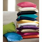 NEW YEAR DEALS!! NEW 2PC PILLOWCASES 400TC 100% COTTON SOLID- ALL SIZES & COLORS image