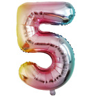 "Rainbow 32"" LOL XL UNICORN PINK NUMBER FOIL BALLOON PARTY SUPPLIES PRINCESS"
