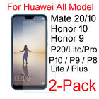 2pcs Premium Real 9H Tempered Glass Screen Protector Film Guard For Huawei