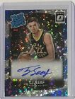 TJ Leaf 2017-18 Optic Rated Rookie Fast Break Prizm Rookie Card Autograph #183