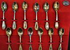ARGENT 800/100 800 Fine Silver Demitasse Spoon Set 12 Pieces And Case (A7298)