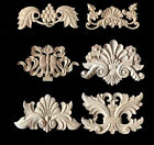 Delicate Solid Wood Carved Applique Cupboard Cabinet Door Furniture Decor