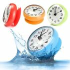 Waterproof Bath Shower Suction Cup Sucker Wall Clock Kitchen Bathroom Mirror