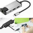 For iPhone Phone Link to RJ45 Ethernet LAN Wired Network Cable Adapter w/ 2 USB