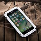 LOVE MEI Shockproof Heavy Duty Glass Aluminum Metal Case Cover for Apple iPhone