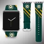 Oakland Athletics Apple Watch Band 38 40 42 44 mm Fabric Leather Strap 01 on Ebay