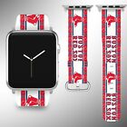 Boston Red Sox Apple Watch Band 38 40 42 44 mm Fabric Leather Strap 01 on Ebay