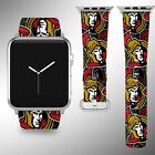 Ottawa Senators Apple Watch Band 38 40 42 44 mm Fabric Leather Strap 01 $29.97 USD on eBay