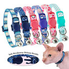 Cat Breakaway Collar with Safety Quick Release Buckle Bell for Pet Puppy Kitten