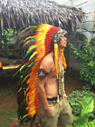 Chief Indian Headdress American Native Warbonnet Feather Headdress Feather Hat L