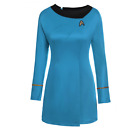 Star Trek The Female Duty Red Uniform Dress Cosplay Costume Gown Outfit Red/Blue on eBay