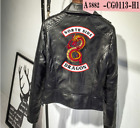 Riverdale Southside Serpents jughead jones women's Faux Leather Biker Jacket COS
