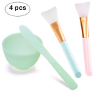 Lemoncy 4 in 1 Face Mask Mixing Bowl Set Silicone Face Mask Brush with Facial or
