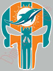 """Miami Dolphins Punisher Sticker Decal Car Truck Made in USA 3""""-11"""" MDP1 on eBay"""