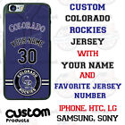 COLORADO ROCKIES PHONE CASE COVER WITH NAME & NUMBER FITS iPHONE SAMSUNG LG etc on Ebay