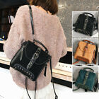 Convertible Faux Suede Leather Small Mini Backpack Rucksack Shoulder Bag Purse