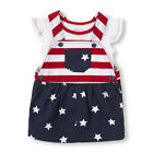 NWT Children's Place Girl Americana Patriotic Flag Outfit Set 4th of July Fourth
