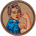 Rosie the Riveter Patrol Patch 2 Round Embroidered Patch
