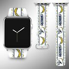 Los Angeles Chargers Apple Watch Band 38 40 42 44 mm Series 1 - 5 Wrist Strap 04 $32.99 USD on eBay