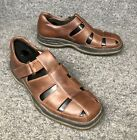 Callaway ERC Collection Brown Leather Golf Sandals Mens Shoe Sz 8.5 In EUC