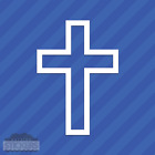 Religious Cross Square Vinyl Decal Sticker Religion Christian Christianity