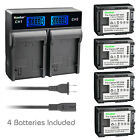 Kastar Battery LCD Rapid Charger for Canon BP-808 & Canon FS20 FS21 Camcorder