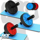 Ab Roller Wheel Core Exercise Fitness Equipment  - Includes Foam Knee Pad - NEW
