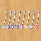 8pcs Maternity Belly Bar Flexible Crystal Pregnancy Navel Ring Belly Butto Nsfg