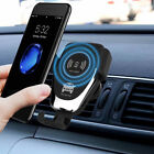 For i Phone X XR XS Samsung -10W QI Wireless Fast Charger Car Mount Holder Stand