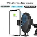 10W Qi Wireless Charger Car Air Vent Mount Holder For iPhone X 8 Samsung S8+ S9+