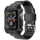 Rugged Protective Case with Watch Strap Bands For Apple Watch Series 5 4 40/44mm image