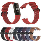 US For Fitbit Charge 3 Replacement Silicone Bracelet Wrist Watch Band Strap xi image