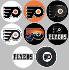 Philadelphia Flyers Set of 8 Buttons or Magnets 1.25 inch $4.0 USD on eBay