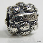 New Authentic Pandora Charm Love & Family 791039 Bead W Suede Pouch
