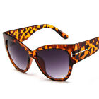 Men Women Black Cat Eye Sunglasses Fashion T Letter Glasses Eyewear Retro Shades