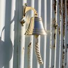 Vintage Style Brass Bells, solid brass with rope, bracket and fixings included