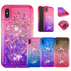 For iPhnoe x max XR XS 6S 7Plus Liquid Glitter Bling TPU Silicone Case Cover