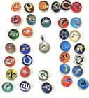 New NFL Snap Jewlery Pendant w snap pick your team you get necklace $7.99 USD on eBay